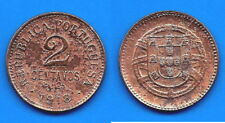 Portugal 2 Centavos 1918 Europe Coin Emblem Escudos Free Shipping Worldwide