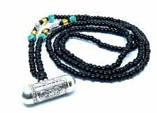 Tibetan Silver Prayer Box, Buddha Eye Pendant, Hand Made Necklace, Fast Shipping