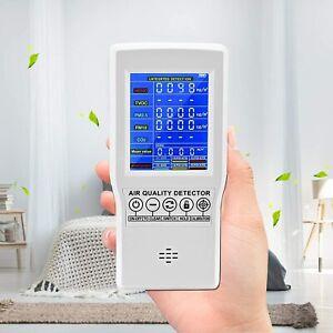 HUKOER Air Quality Monitor CO2/HCHO/TVOC/PM2.5/PM10 Tester,Air Quality Monitor P