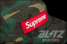SUPREME CAMO WOOL CAMP CAP GREEN FW17 2017 HAT WOODLAND