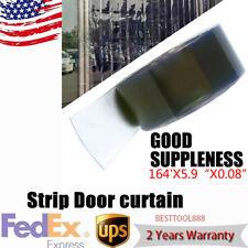 164'x5.9'' x0.08'' Curtain Door Strip Waterproof Cooler Freezer Antistatic