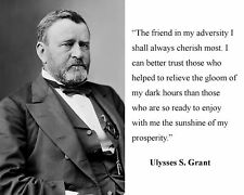 Ulysses S. Grant 18th President Of The United States 8.5x11 Platinum Gloss Photo
