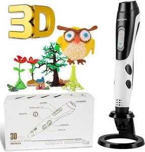 Giantarm Penna 3D Professionale Penna 3D Stampa + 12 Colori Set Filamento Pla, T