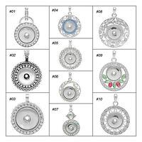 1 Silberfarbe Weiß Strass Anhänger für Druckknopf Click Buttons M3216