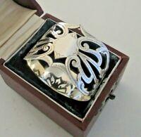 Cased Pierced Sterling Silver Napkin Ring, Birmingham 1909