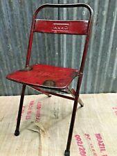Industrial Vintage Antique Retro Metal Folding Chair Patina Mid Century (005)