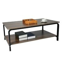 Rectangular Coffee Table Wood w/Shelf Living Room Furniture Tea Computer Desk US
