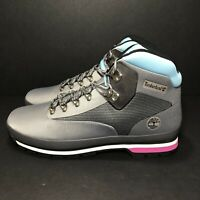 Timberland Euro Hiker Boots Gray Pink Blue A2274 A3949 Men's Size 11 and 12