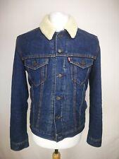 Levis líneas de lana chaqueta vaquera, talla S, Azul, 100% Algodón, Muy Buen Estado