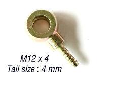 12mm Banjo Unión ojo para 4MM accesorios de acero de Línea De Manguera De Combustible Aceite-M12 X 4 Ranura