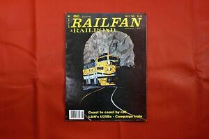 VIntage Railfan & Railroad Magazine May 1981, RR Train Locomotive Interest