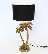 Tischlampe Palmen Messing Gold Schwarz Tisch Leuchte Lampe Deko Midcentury