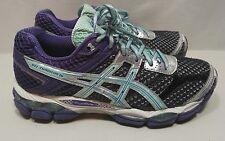 ASICS GEL-Cumulus 16 Womens Running Sz 7.5 Med Width Purple Turquoise