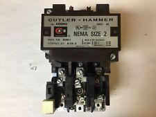 Cutler Hammer A10dno Size 2 Motor Starter With 120 Volt Coil