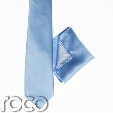 Garçons Bébé Bleu Poche Carré , Garçons Bleu Cravate, Uni Lien, Garçons Cravate