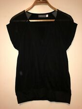 Ladies Mint Velvet Top Black Size 10