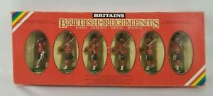 BRITAINS British-Regiments #7235 - Set of 6 hand-painted black watch highlanders