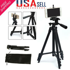 Black Video Camera Tripod Stand Holder Mount for iPhone Samsung Cell Phone + Bag
