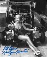 PAT PRIEST AUTOGRAPH B&W MARILYN MUNSTER 8X10 PHOTO MUNSTER KOACH SWIMSUIT
