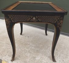 Drexel Chinoiserie Black Laqueur Side Table (Et Cetera Collection) Antique Style