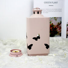 Butterfly Candle Holder Metal Tea Light Candle Stick for Wedding Decor-Pink