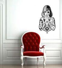 WALL ART STICKER VINYL DECAL MURAL GIRL TATTOO PAINTING FEAR DA2303