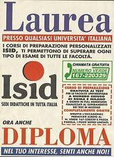 X7403 ISID sedi didattiche in tutta Italia - Pubblicità del 1996 - Vintage ad