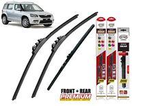 "Skoda Yeti 2009-on full set quality windscreen wiper blades 24""19""10"""