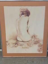 "VINTAGE COOL Sara Moon Art Print 30"" X 24"" NO GLASS IN FRAME SEE DETAILS BELOW"