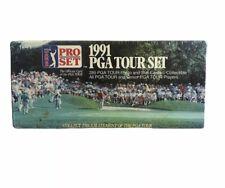GOLF 1991 Official PGA TOUR CARD SET Pro SET New Sealed 285 Cartes