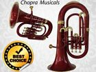 """CHOPRA"" Euphonium Maroon & Brass 3 V brass Bb FLAT ""CHOPRA ""M/ P & Bag 11"