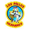 """BREAKING BAD TV Series LOS POLLOS HERMANOS 1.5"""" Metal/ Enamel Pin HARD TO FIND!!"""