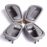 4pcs Gray Grey Inside Inner Interior Door Handle For 98-02 Toyota Corolla Prizm