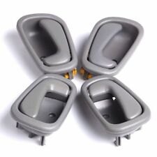 4pcs Gray Grey Inside Inner Interior Door Handle For 98-02 Toyota Corolla Prizm