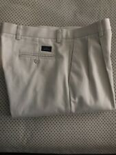 Dockers Pant W34 L32 Classic Fit 100% Cotton Color=Beige, Pleated Front.