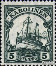 Carolines (Duits.Colony) A21 getest met Fold 1919 Imperial Yacht