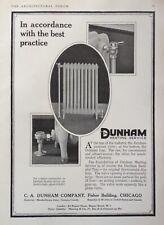 1919 AD(K3)~C.A. DUNHAM CO. CHICAGO. DUNHAM RADIATOR VALVE'S AND TRAP