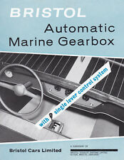 BRISTOL AUTOMATIC MARINE GEARBOX, WITH SINGLE LEVER CONTROL SYSTEM BROCHURE.