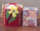 Handmade Needlepoint Plastic Canvas Tissue Box Cover- Daisies TBC