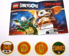 Lego Dimensions Gremlins Team Pack Gizmo and Stripe Only  all 4 Discs 71256 NEW