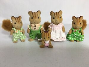 Calico Critters/sylvanian Families Furbank Squirrel Family Of 5