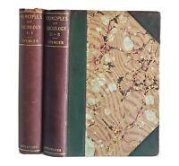 The Principles Of Sociology 2 Vol 1-1, 11-3 Herbert Spencer Antique Victorian