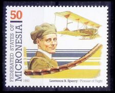 Lawrence B Sperry, Invention 1st autopilot, Aviation, Micronesia MNH,  -Av13