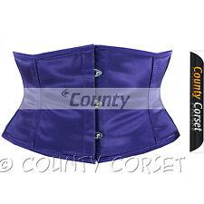 Shaper Cincher MINI Vestaglia Stecche Acciaio waistbust VIOLA sexy corsetto in Satin