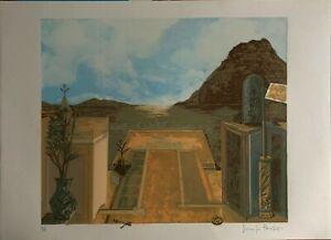Sergio Pausig serigrafia Paesaggio 50x70 firmata numerata 50/99