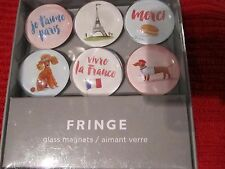 Dachshund Dog French Paris France Glass Art Magnets Boxed Set of 6 Poodle