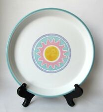 Dansk COSTA DEL SOL DiNNER PLATE White Aqua Pink Yellow Blue Excellent Condition