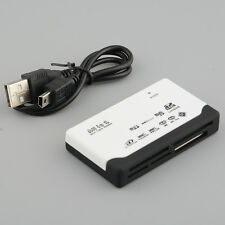 All iN 1 USB2.0 Memory Card Reader Writer Multi Micro/Mini SD M2 SDHC White New