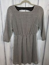 Pinky Dress Women's Size Small Black White Open Back Fully Lined