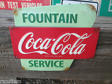 Coca Cola advertising Fountain Service reg us pat Ice Cold Bottles Embossed COKE